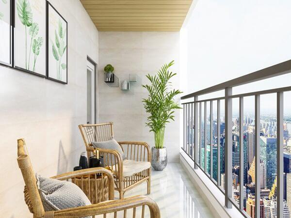 Erkélyünk megújítása bútorokkal, virágokkal